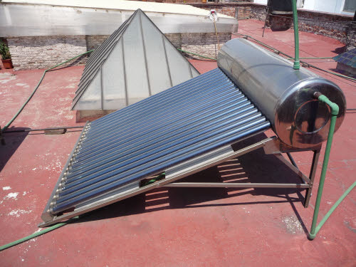 Solar heating at El Patio 77