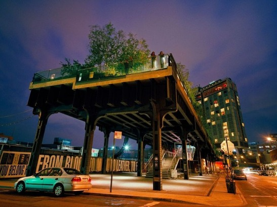 New York: End of the (high) line. A former railway line becomes an uncommericalized, elevated park enjoyed by millions to get around and stay in shape.