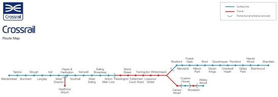 RoutelinearmapMay2009